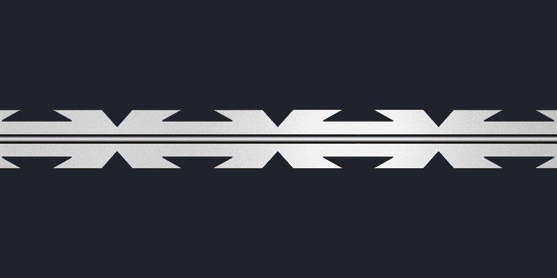 Razor wire concertina blade type blade mesh