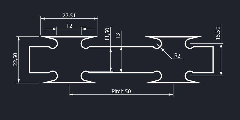 Razor wire concertina blade type standard dimensions