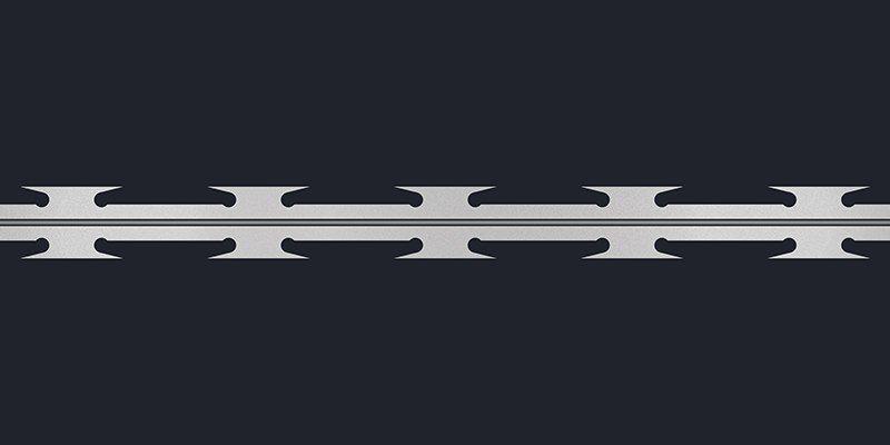Razor wire concertina blade type standard