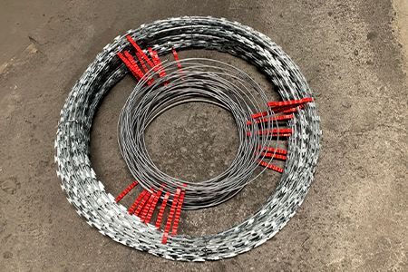 Security electric fence shock coil