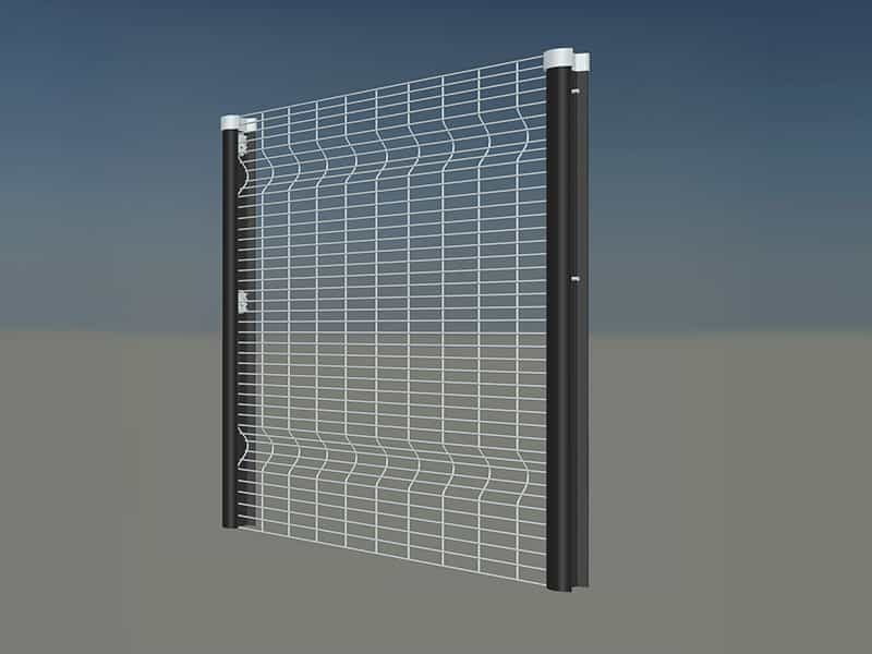 354 clear view welded mesh fencing panel density 25mm x 100mm