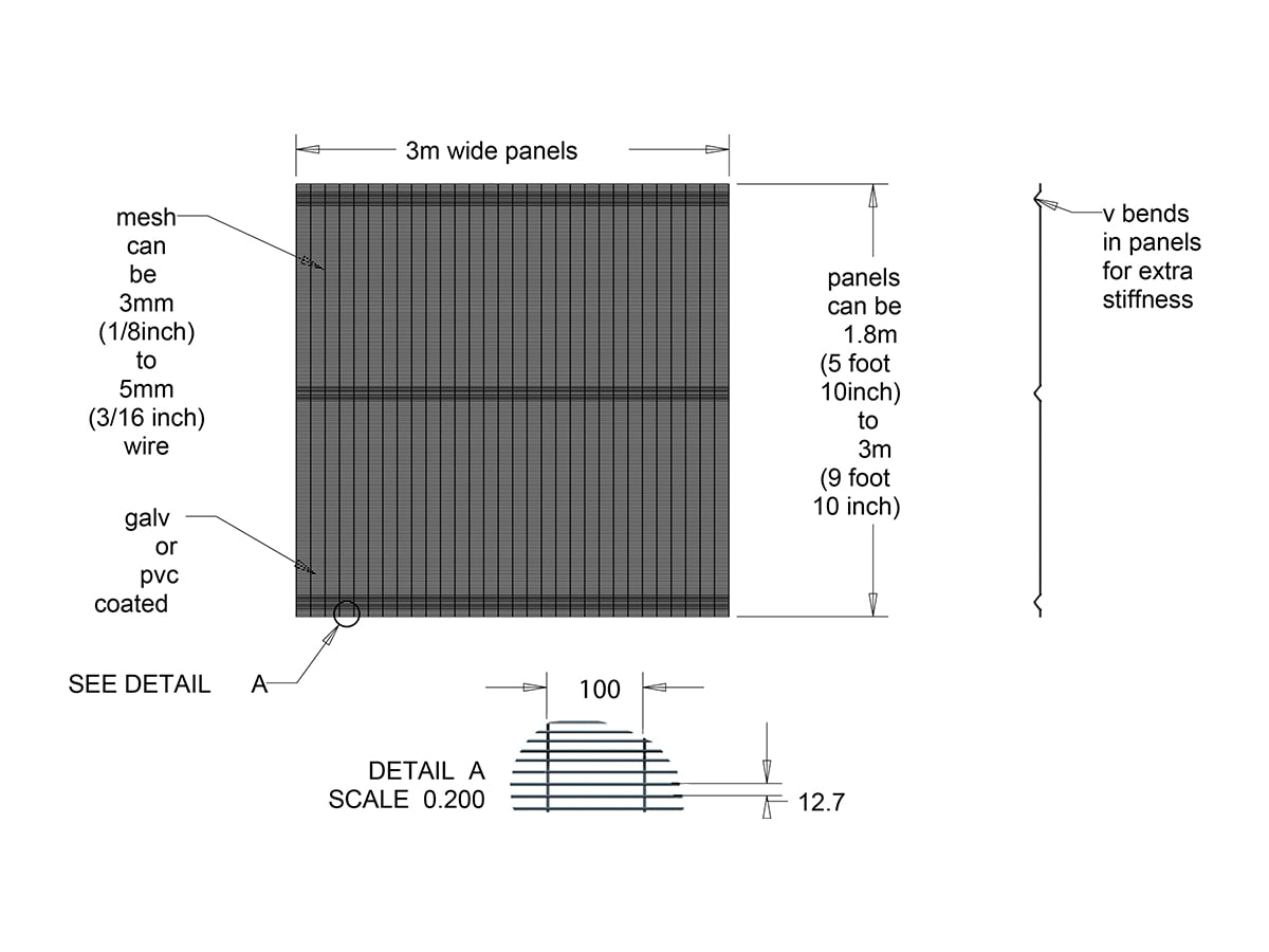 358 mesh panel drawing