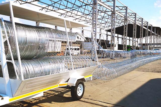Econo razor wire trailer deployment barriers
