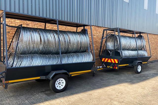 Economy version of razor wire trailers