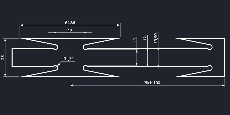 Razor wire long blade tape concertina dimensions