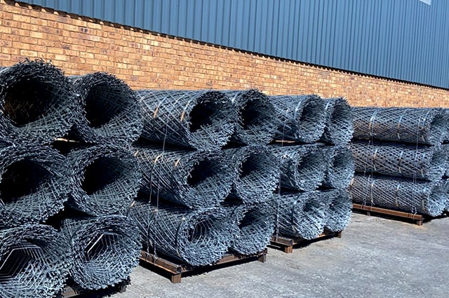 Razor wire mesh ready for transporting