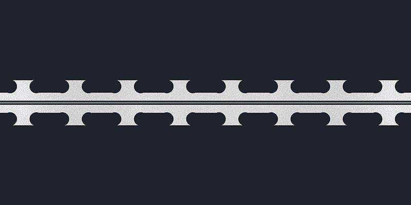 Razor wire short blade tape concertina