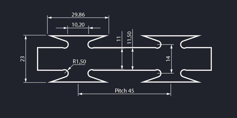 Razor wire super barbed tape concertina dimensions
