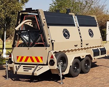 Razor wire military trailer