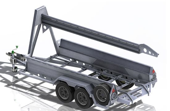 Razor wire trailer military trailer open chassis design