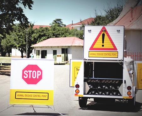 Roadblock trailer