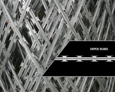 Standard density razor wire mesh super blade profile