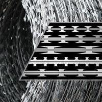 Concertina razor wire coils blade profiles