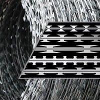 Concertina razor wire coils blade profile