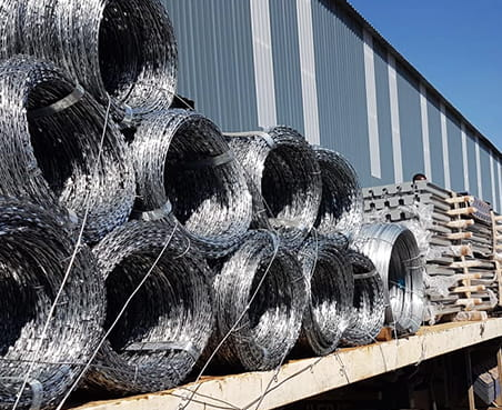 Concertina razor wire coils transporting new project