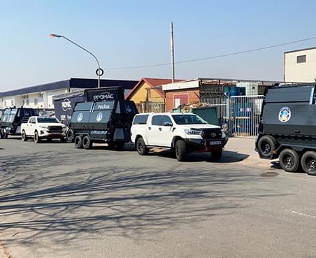 Policia rapid deployment system razor wire trailers