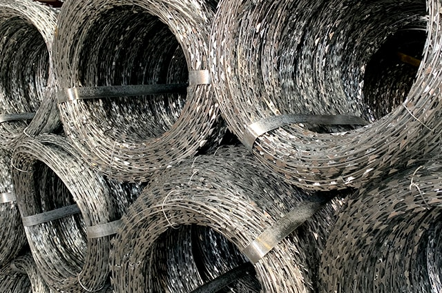 Concertina razor wire factory stock