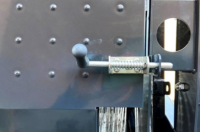 Police razor wire trailer lock