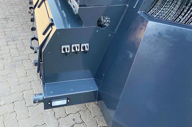Police razor wire trailer toolbox