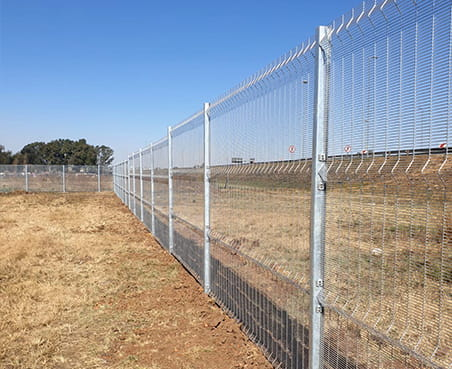 Recent installation clear view fencing