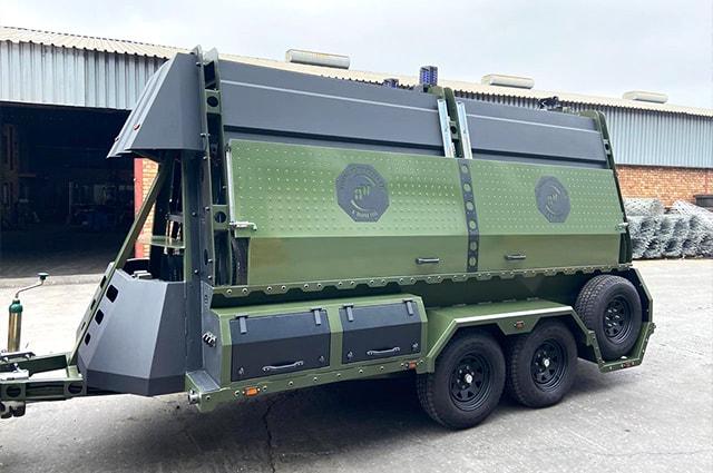 Military razor wire trailer
