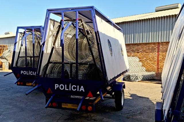 Econo version razor wire trailers back view