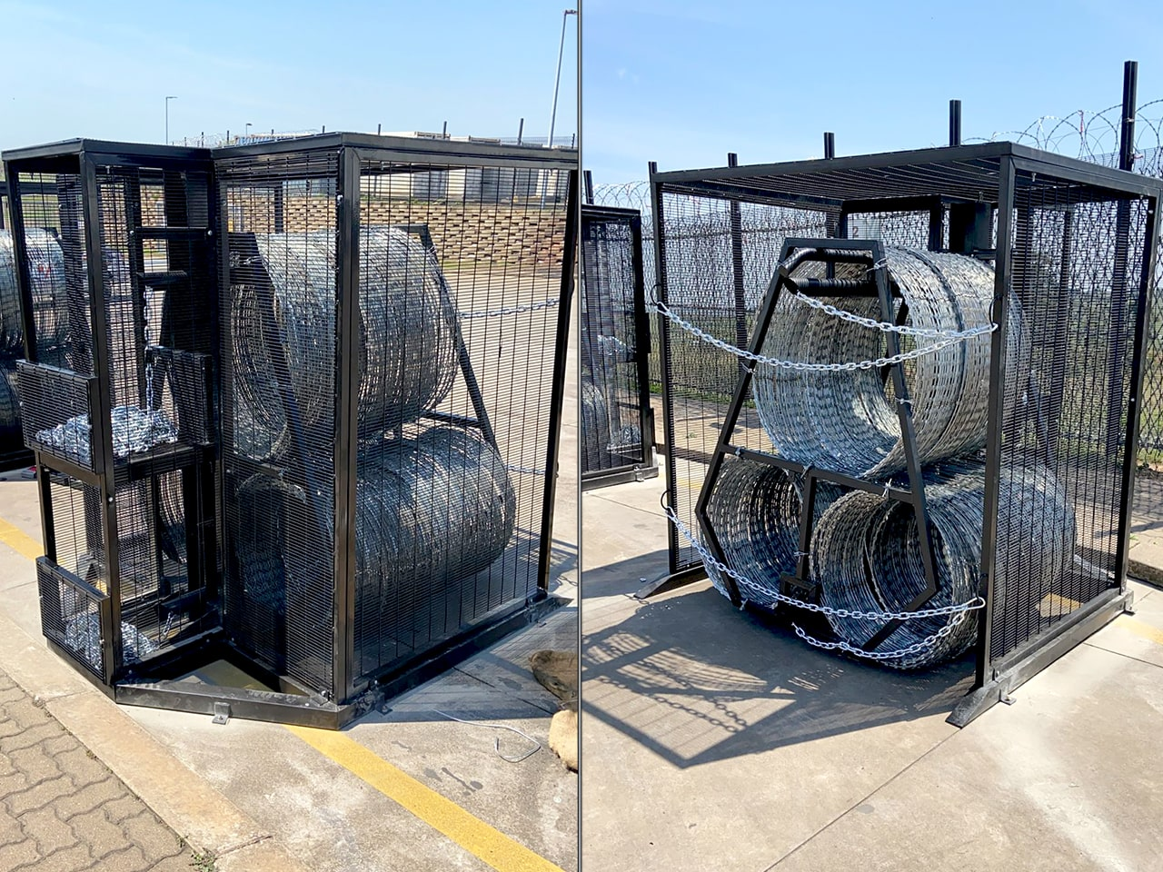 Gate protection boxes rapid deployment modules back and front view