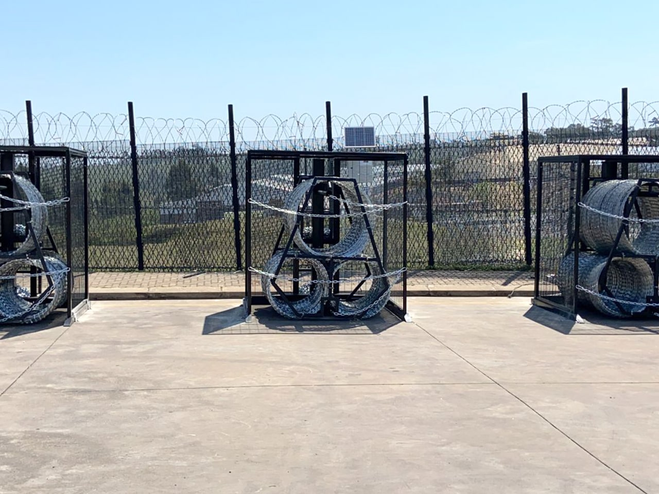 Gate protection boxes rapid deployment modules