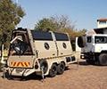Razor wire military trailer rapid deployment system