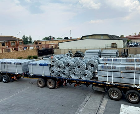 Transporting supply for new installation project